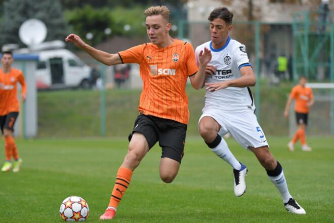 Шахтер U-19 - Интер U-19 - 0:1. Видео гола и обзор матча Лиги УЕФА