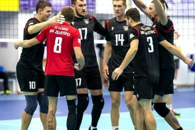 Днепр стал лидером мужской украинской волейбольной Суперлиги