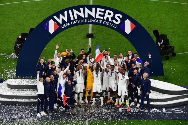 ВИДЕО. Награждение сборной Франции после финала Лиги наций
