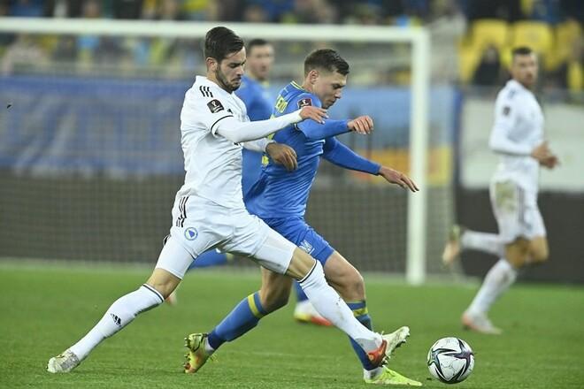 InStat: Матвиенко – лучший игрок Украины в матче с Боснией и Герцеговиной