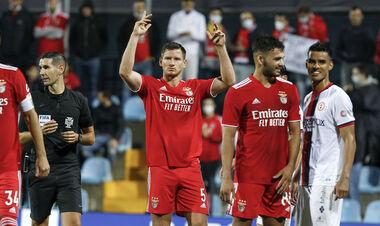 Яремчук вышел на замену. Бенфика с боем выиграла в матче Кубка Португалии