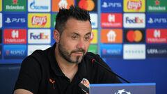 Пресс-конференция Де Дзерби перед игрой против Реала. Смотреть онлайн. LIVE