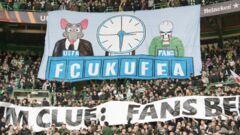 Что скажет УЕФА? Фанаты Селтика устроили дерзкий перформанс на матче ЛЕ