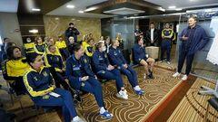 ВИДЕО. Пятов посетил занятие женской сборной Украины