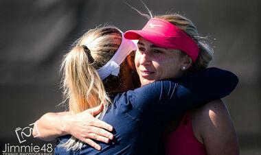 Марта Костюк и Люда Киченок выиграли парный матч на турнире в Румынии