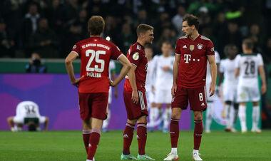 Бавария пропустила 5 безответных голов от Боруссии М в Кубке Германии