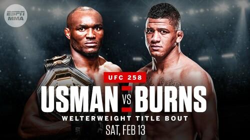 Где смотреть онлайн UFC 258: Камару Усман – Гилберт Бернс