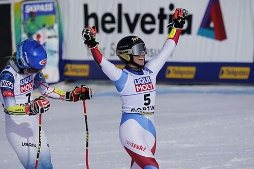 Горные лыжи. Гут-Бехрами выиграла у Шиффрин битву за золото гиганта