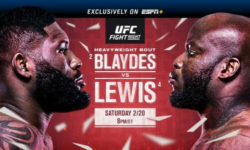 Где смотреть онлайн UFC: Кертис Блейдс – Деррик Льюис