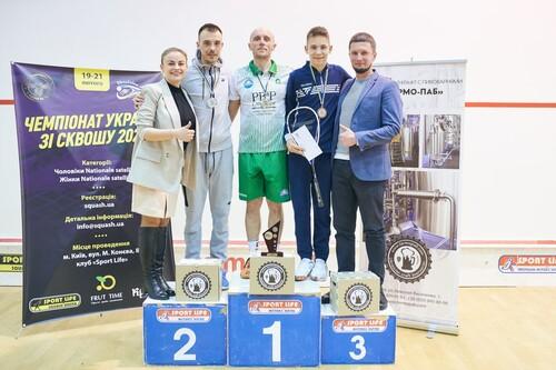 Определены победители чемпионата Украины по сквошу