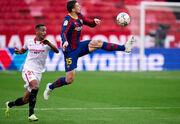 Барселона в гостях обіграла Севілью завдяки голам Дембеле і Мессі