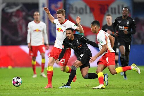 Лейпциг вырвал победу над Боруссией М, проигрывая 0:2