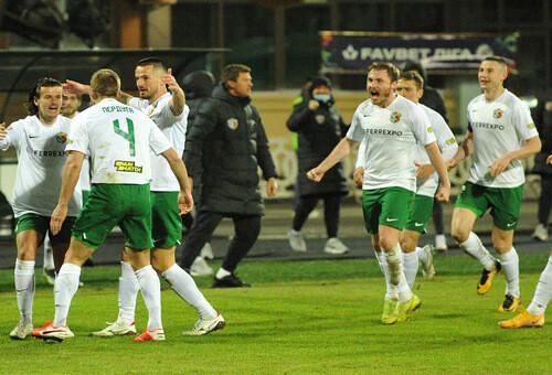 ВИДЕО. Бурная радость футболистов Ворсклы после первой победы в новом году
