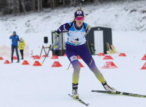 ЮЧМ-2021 по биатлону. Кристина Дмитренко отыграла 12 позиций в персьюте