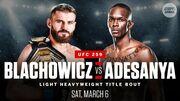 Де дивитися онлайн UFC 259: Ян Блахович – Ісраель Адесанья