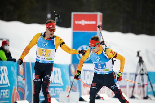 Нове-Место-2021. Германия выиграла мужскую эстафету, Украина – в топ-10