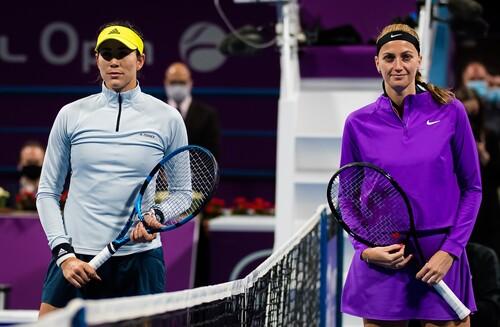 Квитова во второй раз обыграла Мугурусув финале турнира в Дохе