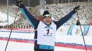 ВИДЕО. Соперник трижды упал перед финишем: Лукашенко выиграл лыжную гонку