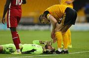ВИДЕО. Вратарь Руй Патрисиу получил жуткую травму в игре с Ливерпулем