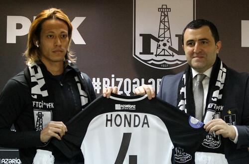 Кейсуке Хонда став гравцем Нефтчі