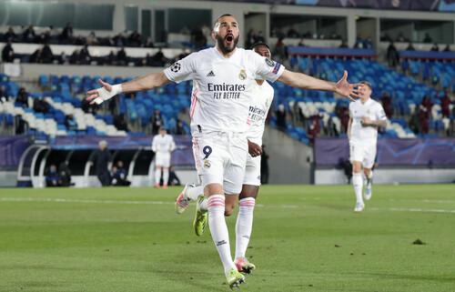 Бензема забил 70 голов и вышел на пятое место в истории Лиги чемпионов