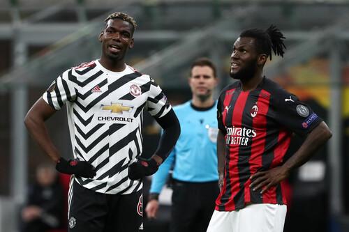 Гол Погба принес победу. Ман Юнайтед прошел Милан и вышел в 1/4 финала