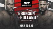 Где смотреть онлайн UFC: Дерек Брансон – Кевин Холланд