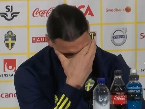 ВИДЕО. Почему плакал Златан? Ибрагимович разрыдался на пресс-конференции