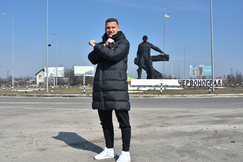 Вьюнник сыграл в футбол с детьми в Червонограде