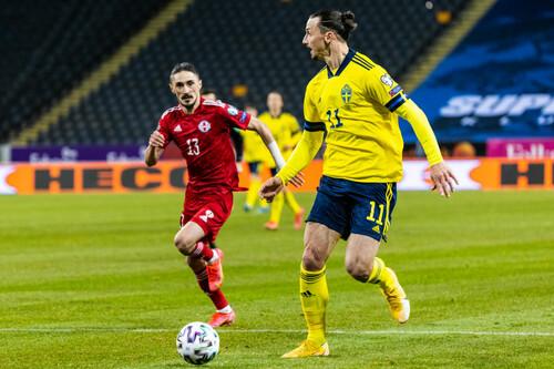 Швеция – Грузия – 1:0. Видео гола и обзор матча
