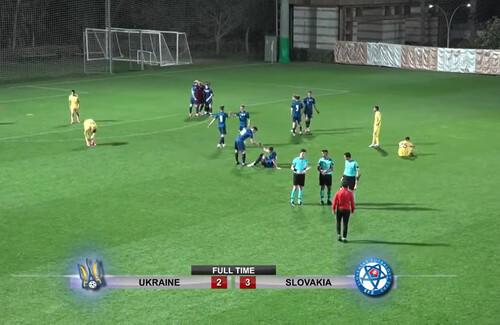 Ротаню не везет. Украина U-21 проиграла словакам, ведя в счете в два мяча