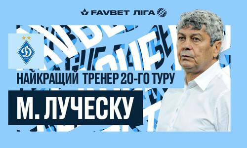 Еще один шаг к чемпионству. Луческу признан лучшим тренером 20-го тура УПЛ