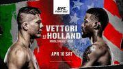Где смотреть онлайн UFC: Марвин Веттори – Кевин Холланд