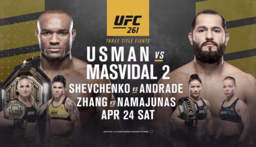 Где смотреть онлайн UFC 261: Камару Усман – Хорхе Масвидаль