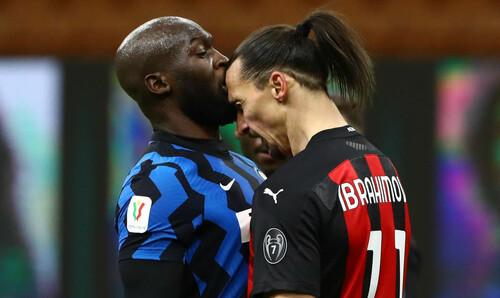 Ибрагимович и Лукаку наказаны за свою стычку в Кубке Италии