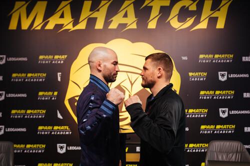 Артем Лобов и Денис Беринчик встретились перед боем на голых кулаках