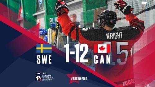 Юниорский ЧМ по хоккею. Швеция пропустила 12 шайб, победа Беларуси