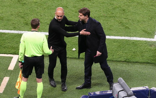 ВИДЕО. Реакция Гвардиолы и Почеттино на камбэк Манчестер Сити