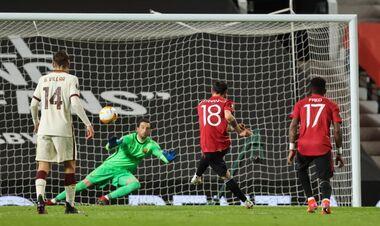 ВИДЕО. Еще один дубль для МЮ. Бруну Фернандеш забил в ворота Ромы
