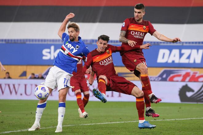 Сампдория – Рома – 2:0. Видео голов и обзор матча