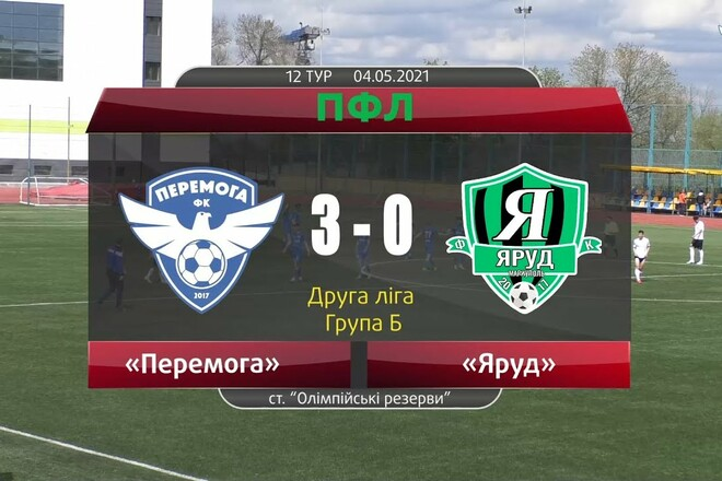 Перемога – Яруд – 3:0. Видео голов и обзор матча