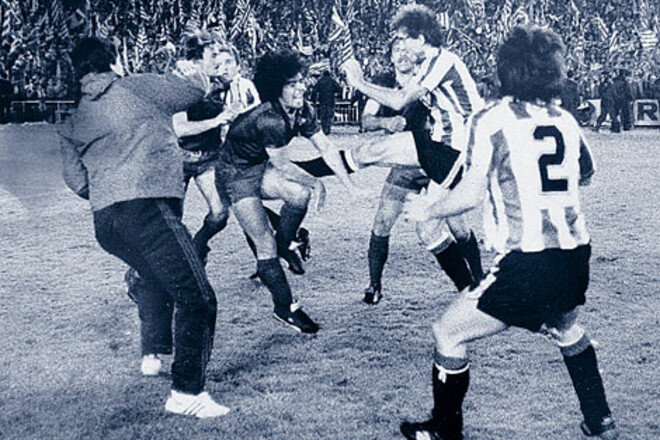 ВИДЕО. 37 лет легендарной драке в финале Кубка Испании с участием Марадоны