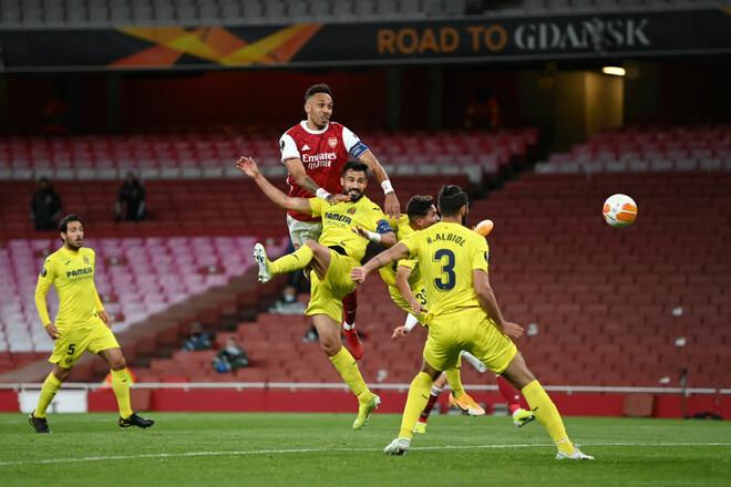 Арсенал – Вільярреал – 0:0. Дві стійки Обамеянга. Відеоогляд матчу