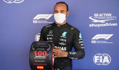 ВИДЕО. Льюис Хэмилтон выиграл 100 поул в карьере Формулы-1