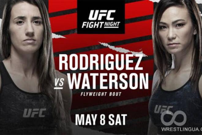 Где смотреть онлайн UFC: Марина Родригес – Мишель Уотерсон