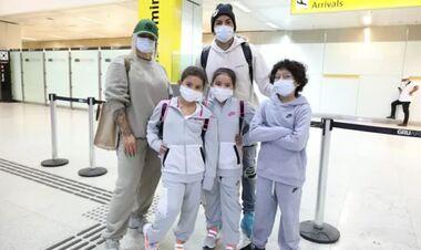 И снова 17 чемоданов! Дентиньо вернулся в Бразилию с семьей и пожитками