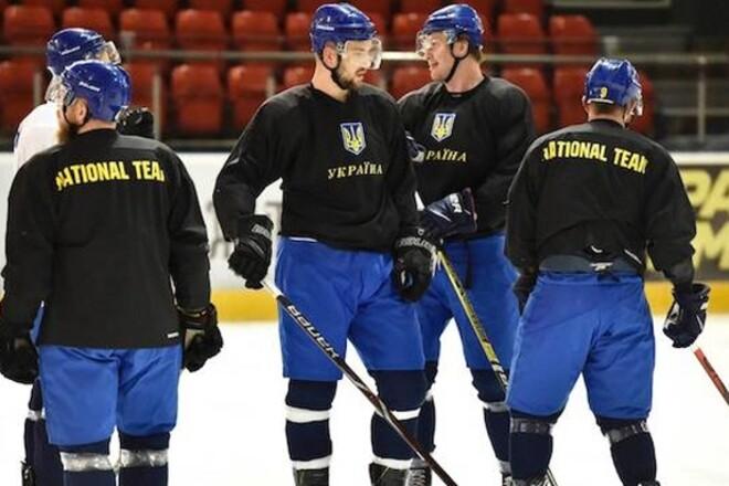 Сборная Украины по хоккею провела первый матч на сборе