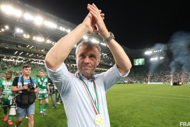 Сергей Ребров - лучший тренер сезона в Венгрии