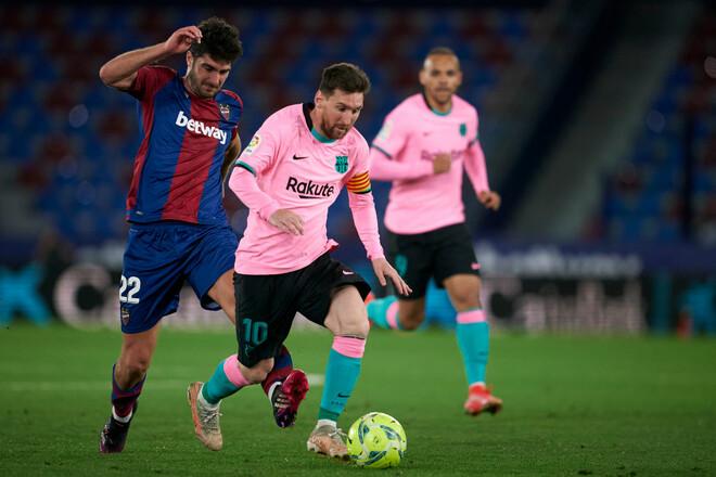 Леванте – Барселона – 3:3. Видео голов и обзор матча