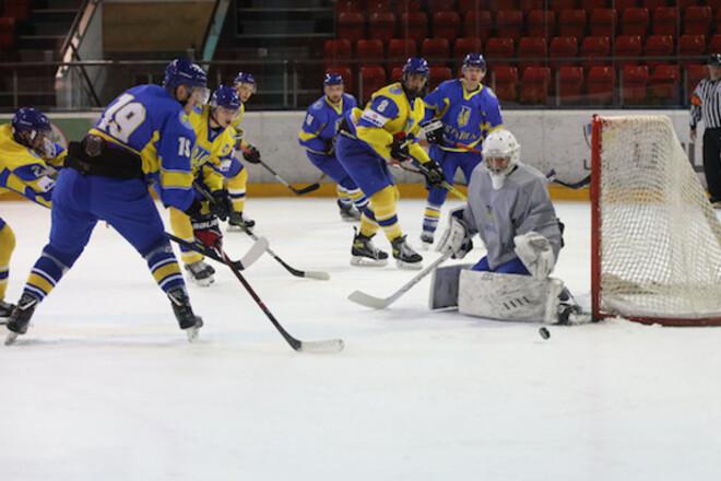 Сборная Украины забросила 8 шайб во втором контрольном матче